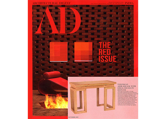 Thomas Abraham and Idea Design for The Architectural Digest show